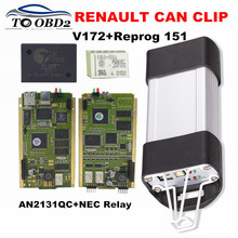 AN2131QC Golden PCB Renault Can Clip V172+Reprog 151 Full Chip Stable Function Auto Diagnostic Scanner For Renault(China)