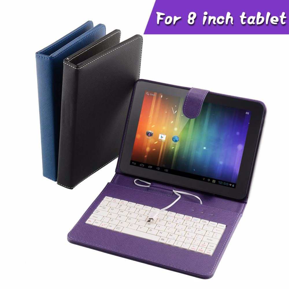 Worthy PU universal Leather Stand Case with MINI Micro USB Keyboard For 8 Inch Tablet professional genuine<br><br>Aliexpress