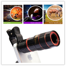Universal Clip 8X Zoom Mobile Phone Telescope Lens Telephoto External Portable Camera Lens For iPhone Sumsung HTC Huawei LG