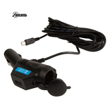 3.5 m line car charger 3A multi-function for Driving recorder  and car phone charger with cigarette lighter + USB