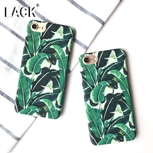 LACK Leaf Case For iphone 7 Case Summer Cool Plants Banana Leaves Phone Cases Ultra Thin Hard Cover For iphone7 6 6S Plus 5 5S