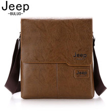 JEEP BULUO Famous Brand Leather Men Bag Casual Business Leather Mens Messenger Bag Vintage Men's Crossbody Bag bolsas male 1505(China)