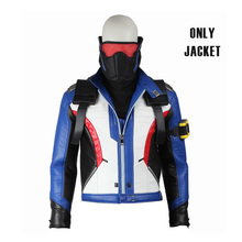 Soldier 76 Cosplay Costume Jacket Coat Suit Top Jack Morrison Cosplay Adult Unisex Men Halloween Hot Game Party Ball Custom Made