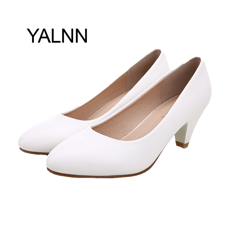 Women Black/white Soft Leather Pointed Toe Leather Shoes Women Pumps Shoes<br><br>Aliexpress