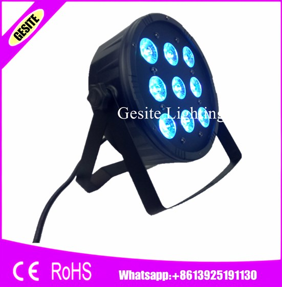 24pcs/lot With DMX 7 channes Led Par 9x12W RGBW 4in1 Stage Wash Light for Event,Disco,Party,Dj equipment Fast shipping<br>