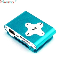 Mosunx Factory Price Mini Clip Metal USB MP3 Player Support Micro SD TF Card Music Media 60427X13 Drop Shipping
