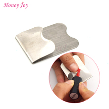 Convenient Nail Chair Assistant Tool Easy French Manicure Nail Art Tool for Pink and White Smile Line Drawing