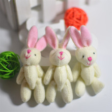 3Pcs/Set 7.5CM Lovely Joint Long Ear Rabbit Plush Toys kids Toys Doll kids Birthday Gift Pendant Wedding Bouquet Candy Box Doll