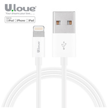 ULOVE Lightning to USB Cable 2.1A 1M Fast Charging Charger Cables For iPhone 6 6S Plus 5 5s iPad iOS 9.1 8 Pin MFi Certificated(China)