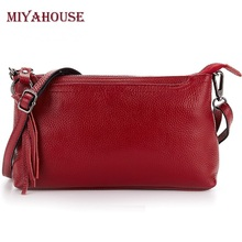 European Style Female Small Handbags Genuine Leather Women Envelop Shoulder Bags Fashion Litchi Leather Ladies Crossbody Bag(China)