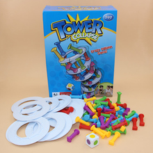 28*21 cm Hot Ins Boom Boom Tower Collapse Family Funny Game table Building play blocks eiffel tower Pisa tower(China)