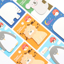 1 Pcs Cute Kawaii Korean Japanese Animal Lion Penguin Sticky Notes Post It Memo Pad Paper Kids School Office Supplies Stationery