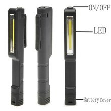 Outdoor Camping Mini LED Inspection Light Lamp Pen Shape Pocket Clip Work Hand Torch Flashlight(China)
