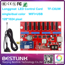 128*1024 pixel longgreat tf-c6uw wifi led control card wireless led display sign led advertising scrolling board led programable
