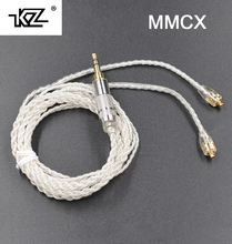 New KZ MMCX Cable Silver Plating Cable Upgraded Cable Replacement Cable Use For Shure SE535 SE846 UE900 DZ7 DZ9 DZX LZ A4(China)