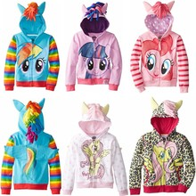 2017 My New little ponys Girls Clothes Children Outerwear Kids Jackets Coat Hoodies Clothing Brand Baby Girls Child Wear 2-8Yrs(China)