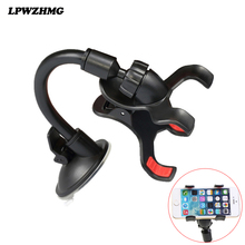 Universal Mount Car Phone Holder Windshield Abs Pop Phone Holders For iphone 5 6 Double Clip Mobile Holder For Car Stand Support