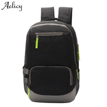 Aelicy Portable Fashion casual Travel Backpacks Soild Nylon Back Pack Daily Traveling Mens Backpack Bag Waterproof Rucksack 1017(China)