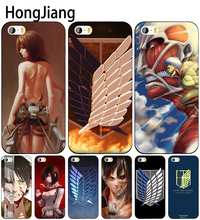HongJiang Anime Japanese attack on Titan cell phone Cover case for iphone 6 4 4s 5 5s SE 5c 6 6s 7 8 plus case for iphone 7 X(China)