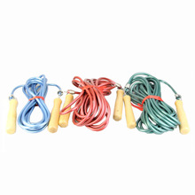 Adjustable Length Group Jump Rope with Wooden Handle Rubber String Material Fitness Body Exercise Long Skip Rope 5m/7m/9m(China)