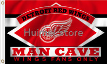 Detroit Red Wings Flag NH*L 3ft x 5ft Polyester MAN CAVE Style Banner