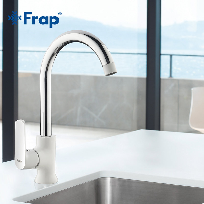 Frap Newly arrived Modern fashion style brass kitchen faucet Optional 3-color 360 degree rotation torneira cozinha mixer F4031<br>