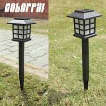 Colorpai New Arrival Hot Waterproof Cottage Style White LED Solar Garden Light Outdoor Garden Lawn Landscape Decoration Lamps
