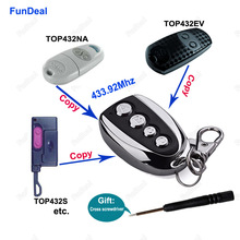 433.92Mhz CAME TOP432NA TOP432EV Garage Door/Gate Remote Control Duplicator/Replacement Key Fob Remote Clone 433mhz Transmitter(China)