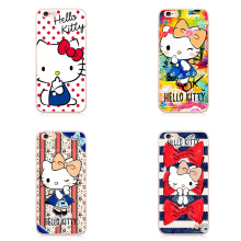 Hello Kitty Cat Case Printed Soft Back Cover Caso Cell Phone Cases Coque For iPhone 7 7Plus 6 6s Plus 5 5S SE(China)
