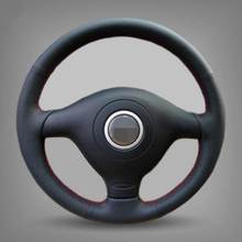 Hand-stitched Black Leather Car Steering Wheel Cover for Volkswagen VW Golf 4 Mk4 Old VW Passat B5