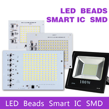SMD LED Lamps Chip Smart IC AC 220-240V 10W 20W 30W 50W 100W DIY For Outdoor FloodLight Outdoor Garden Cold White Warm White(China)