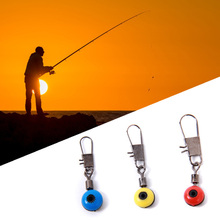New 20Pcs/lot Fishing Line to Hook Swivels Shank Clip Connector Interlock Snap Connector Sea Fishing Lure Beans Belt(China)