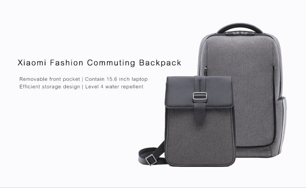 Xiaomi Fashion Commuting Waterproof backpack Removable Front Bag Big Capacity men backpacks travel backpack Laptop Bag male H0 (28)