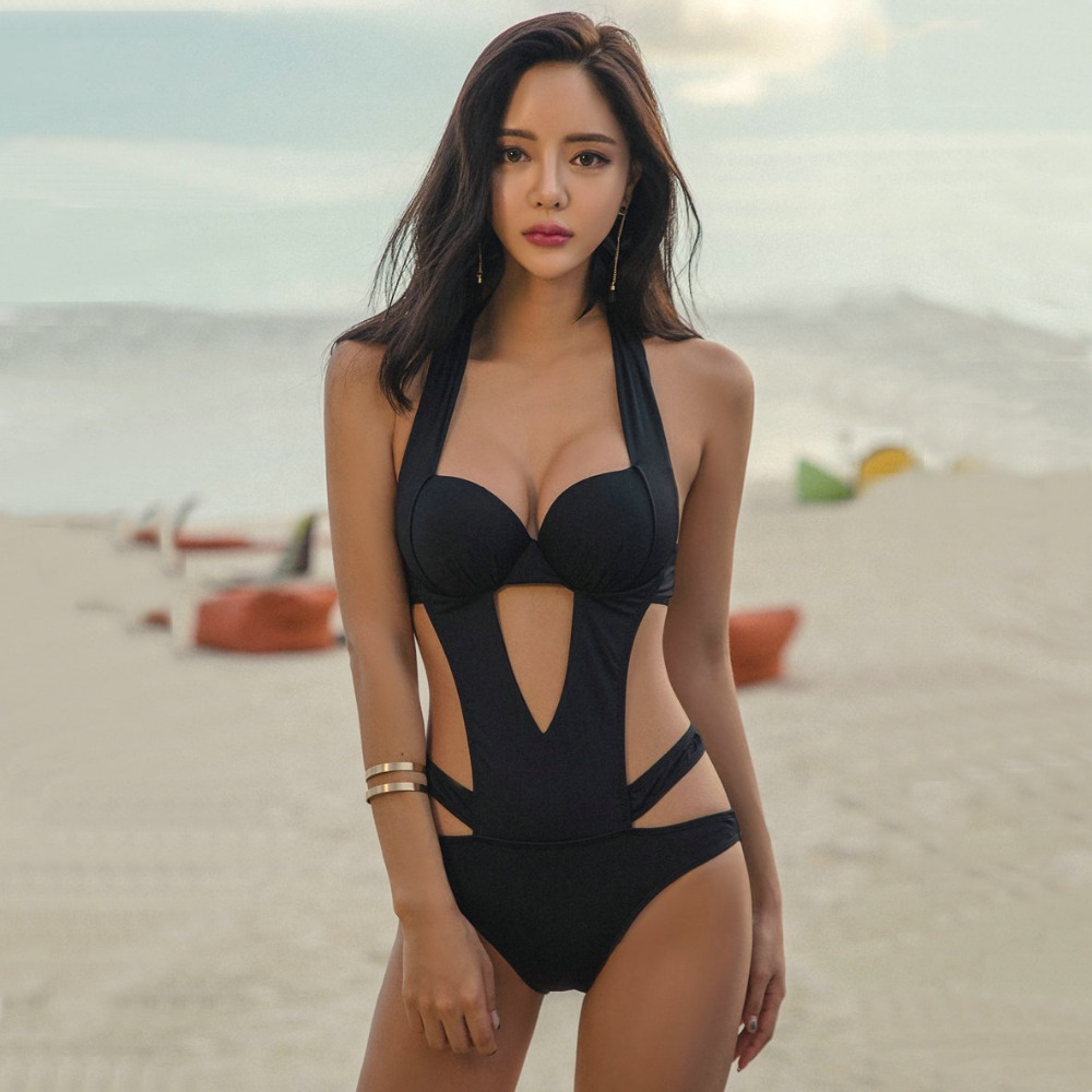 3 styles of pure black conjoined bikini, super sexy and charming<br>