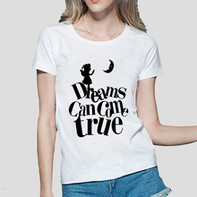 Dreams Can Come Ture Kawaii graphics women t-shirts 2016 funny cotton shirt femme hipster brand clothing mma punk harajuku tops