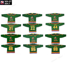 Men's Ice Hockey Jersey Mighty Ducks Movie Green Jerseys 9# 21# 33# 44# 66# 96# 99# Throwback Winter Wear Stitched Sports Jersey(China)