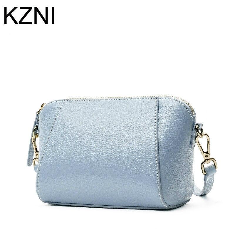 KZNI women crossbody bag genuine leather bags for women messenger bag famous brand sac de luxe les plus vendu de marque L030305<br>