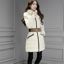Winter Down Jacket Women 2017 Winter Wear High Quality Warm Waist Parkas Winter Jackets Outwear Women Long Coats C442