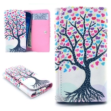 2016 New Fashion phone cases Cartoon Flower Leather slot wallet pouch case skin cover For VKworld G1 Giant