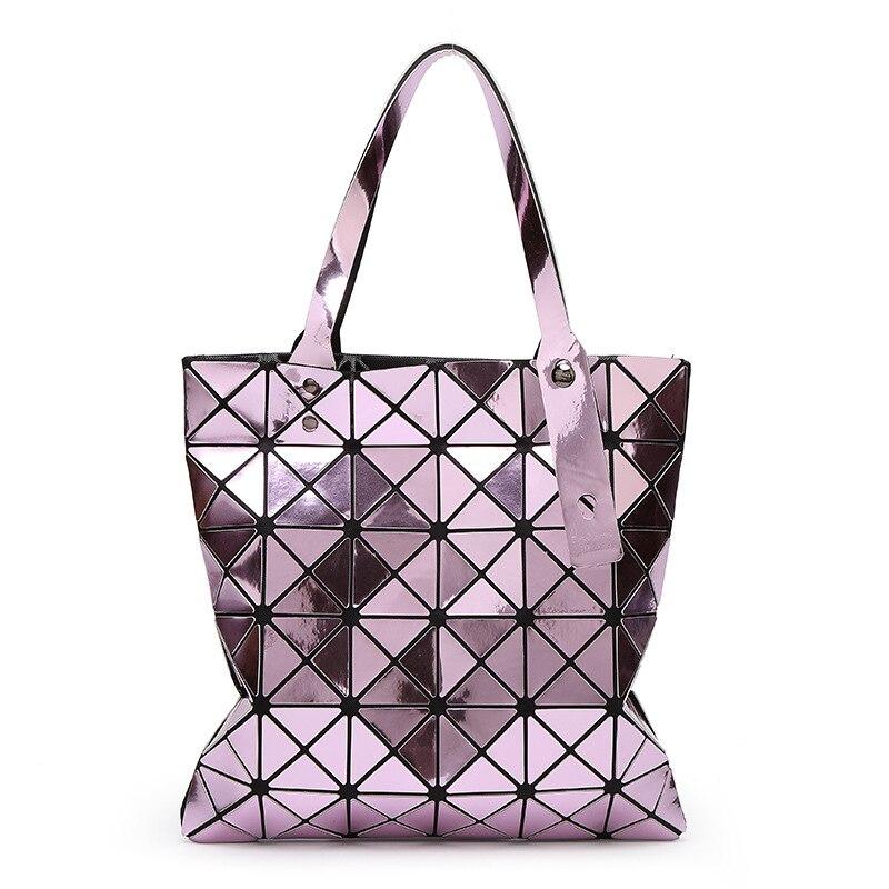 Famous brands Bao Bao style Designer women bag Diamond Lattice Tote geometry Specular reflections handbags Top-Handle Bags<br>