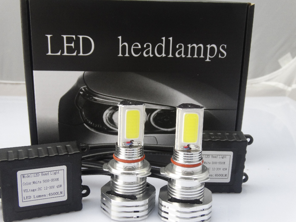 2 X Plug&amp;Play 90W 9000LM H4 High Power COB LED Bulbs Car DRL Fog Headlight Lamp Bulb<br><br>Aliexpress