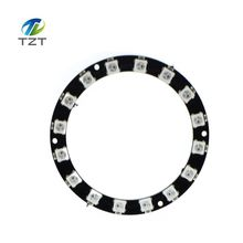 1pcs TZT teng 16 Bit WS2812 5050 RGB LED full-color built-in driving lights Round development board(China)