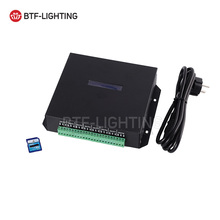 T100K 8 ports*512pixels,4096pixels online Led Pixel DMX Controller Program by PC For WS2812 WS2811 1809 6803 WS2801 Pixels Strip(China)