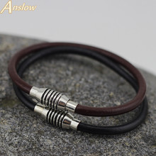 LOW0003LB 2015 New Arrival Fashion Jewelry Handmade Vintage 4mm Leather Bracelet For Women And Men Christmas Gift Free Shipping