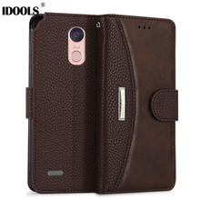 Case For LG Stylo 3 5.7 Inch IDOOLS Original Vintage PU Leather Wallet Covers Phone Bags Cases for LG Stylus 3 Coque Holder Capa(China)
