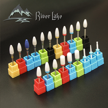 River lake Ceramic Nail Drill Bit For electric manicure machine accessories Nail Art Tools Electric Manicure Cutter Nail Files(China)