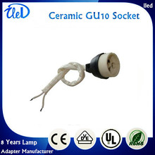 1000Pcs/lot  Ceramic GU10 Socket With Cable  For GU10 lamp base spot