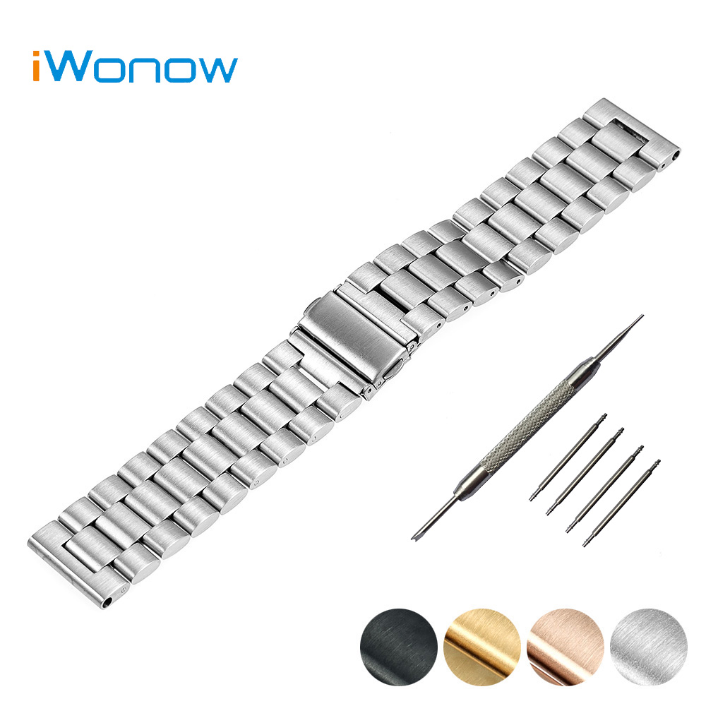 Stainless Steel Watch Band 22mm for Asus ZenWatch 1 2 Men WI500Q WI501Q Folding Clasp Strap Wrist Belt Bracelet Black Silver<br><br>Aliexpress