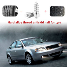 100 Pcs Stud Screw 12mm Car SUV ATV Anti-Slip Screw Stud Wheel Tyre Snow Tire Spikes Trim Auto Accessories