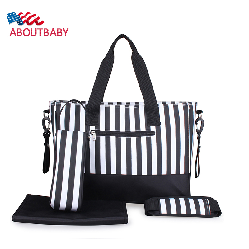 New Baby Travel Bag Strip Waterproof Baby Diaper Bag For Stroller Kids Nappy Changing Bag Bolsa Maternidade Mother Maternity Bag<br>